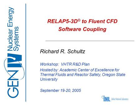 RELAP5-3D© to Fluent CFD Software Coupling