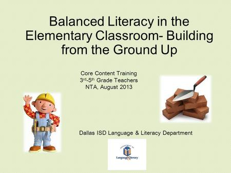 On site with balanced literacy and the writing workshop e nicholson dallas isd language literacy department malvernweather Choice Image