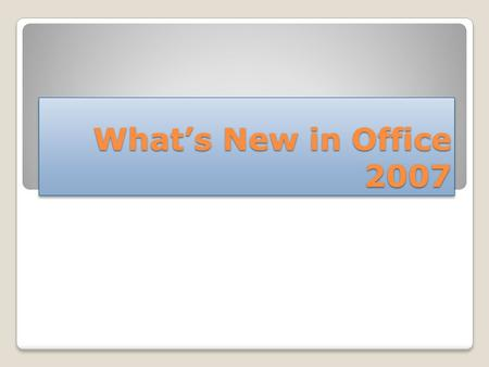 What's New in Office 2007. Visio 2007 Microsoft Office Visio 2007 drawing and diagramming software makes it easy for IT and business professionals to.