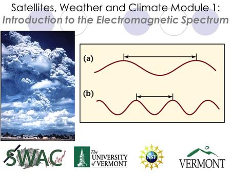 Satellites, Weather and Climate Module 1: Introduction to the Electromagnetic Spectrum.