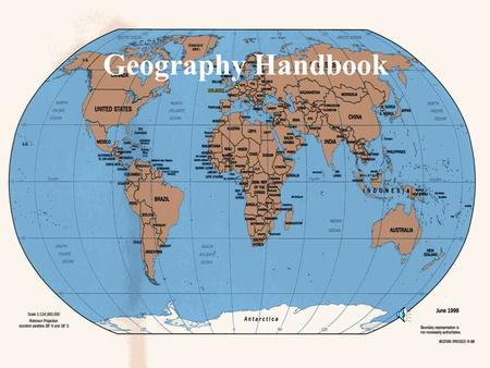 Geography Handbook Maps: Making the Most of Them (pM4 & M5) map- a drawing, on a flat surface, of a part of the Earth. All maps will usually contain.