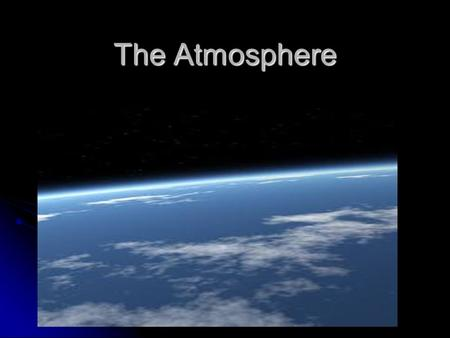 The Atmosphere. Weather vs. climate Weather: The state of the atmosphere at a given time (hour to hour or day to day) Weather: The state of the atmosphere.