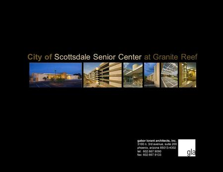 City of Scottsdale Senior Center at Granite Reef
