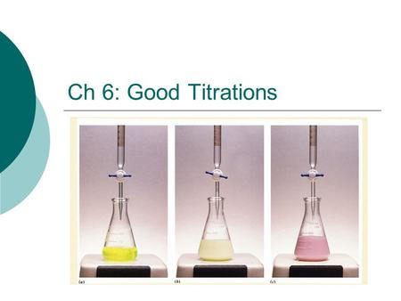 Ch 6: Good Titrations.