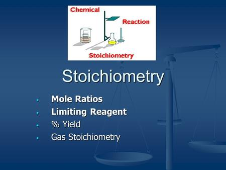 Mole Ratios Limiting Reagent % Yield Gas Stoichiometry