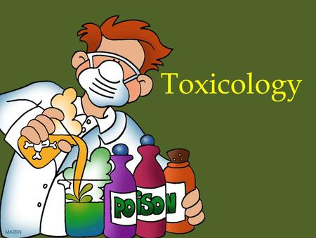 Toxicology. Toxicology is analyzing biological fluids and tissues for the presence of drugs and poisons and quantifying any substances found.