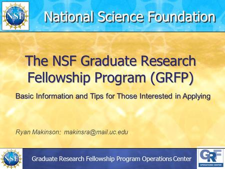 nsf graduate research fellowship program essays Nsf graduate research fellowship program nsf grfp • oldest graduate research fellowship of its kind • two essays.