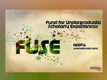 WHAT IS FUSE? Provides funding to support faculty-mentored undergraduate student research and creative activity.
