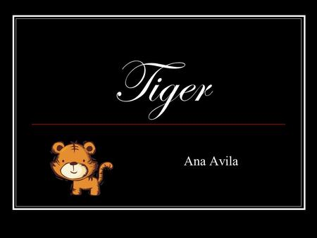 Tiger Ana Avila. Siberian tiger basic information The Siberian tiger has a few other types of names, for example the Amur tiger, china tiger and other.