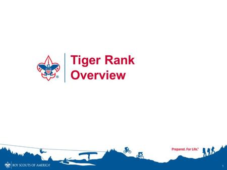 1 Tiger Rank Overview. Tiger Overview - Objectives By the end of the session, participants will… Understand and communicate to others the updated requirements.