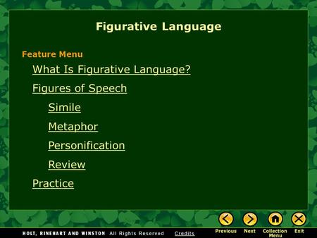 Figurative Language What Is Figurative Language? Figures of Speech