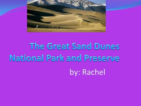 By: Rachel. Where the park is located The Great Sand Dunes National Park is located in parts of Alamosa County and Saguache County in Colorado, in the.