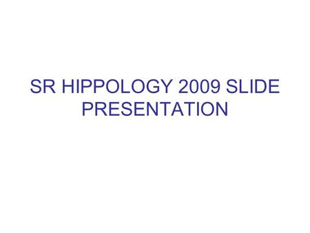 SR HIPPOLOGY 2009 SLIDE PRESENTATION. What gait is this horse doing? 1.