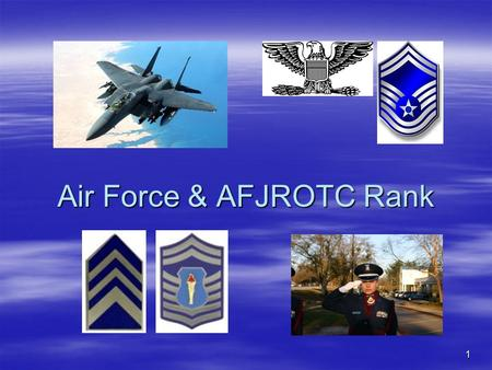 Air Force & AFJROTC Rank