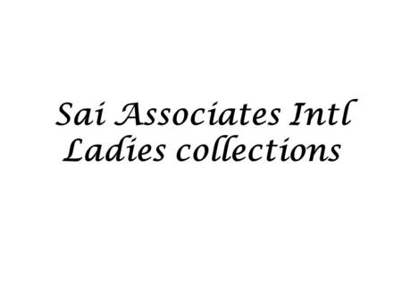 Sai Associates Intl Ladies collections. Style Ref: SAI W 1 Fabric: 65% Cotton / 35% Polyester Neppy Marl S.Jersey GSM: 130.
