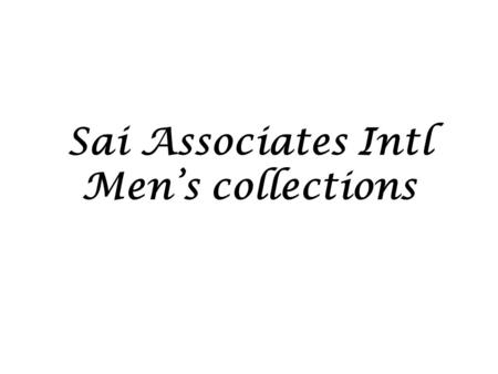 Sai Associates Intl Men's collections. Style Ref: SAI M 01 Fabric: 100% Ctn Jacquard pique knit GSM: 180.