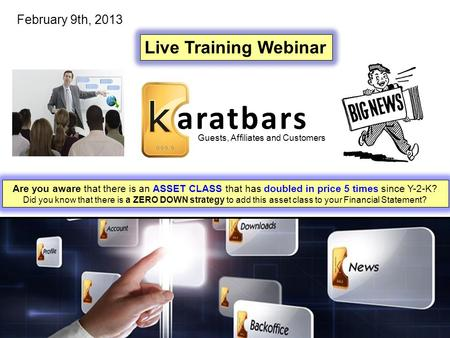aratbars Live Training Webinar February 9th, 2013