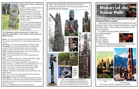 History of the Totem Pole What purpose did totem poles serve for Pacific Northwest Native people? Totem.