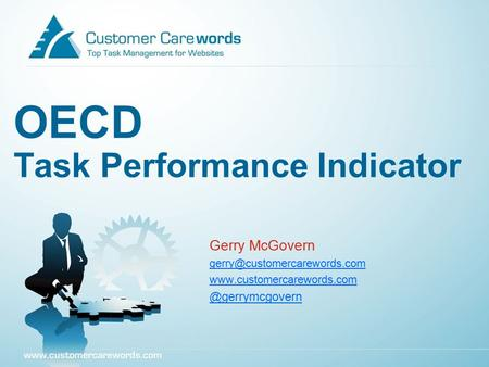 OECD Task Performance Indicator Gerry McGovern