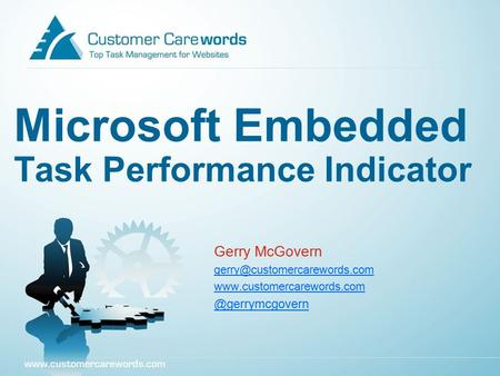 Microsoft Embedded Task Performance Indicator Gerry McGovern