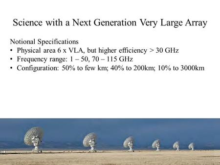 Science with a Next Generation Very Large Array