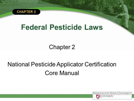 Federal Pesticide Laws