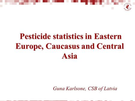 Pesticide statistics in Eastern Europe, Caucasus and Central Asia