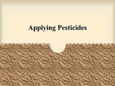 Applying Pesticides.