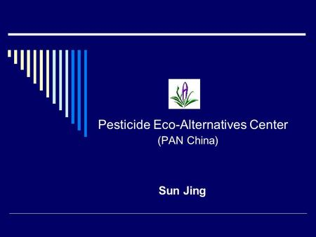 Pesticide Eco-Alternatives Center (PAN China) Sun Jing.