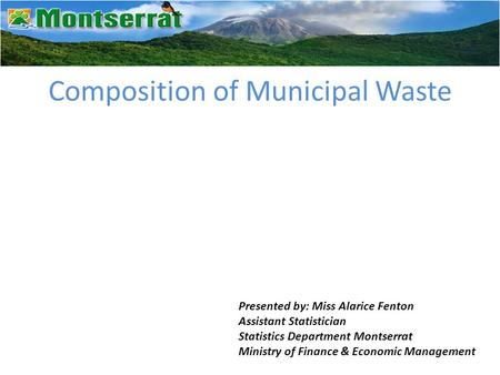 Composition of Municipal Waste