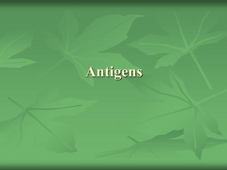 Antigens. Definitions Immunogen Immunogen Antigen (Ag) Antigen (Ag) Hapten Hapten Epitope or Antigenic Determinant Epitope or Antigenic Determinant Antibody.
