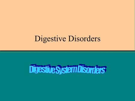 Digestive Disorders. Acid Reflux Symp- burning sensation RX- avoid chocolate and peppermint, coffee, citrus, fried or fatty foods, tomato products – stop.