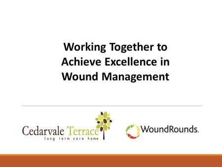 Working Together to Achieve Excellence in Wound Management.
