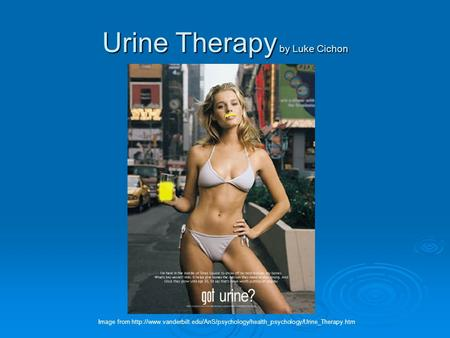Urine Therapy by Luke Cichon Image from