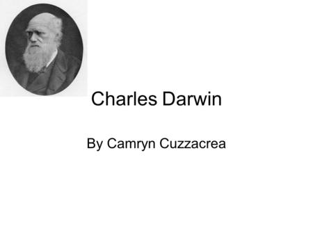 Charles Darwin By Camryn Cuzzacrea. Background Information Born in 1809 in England As a boy, he enjoyed nature He often collected bugs He went to Cambridge.
