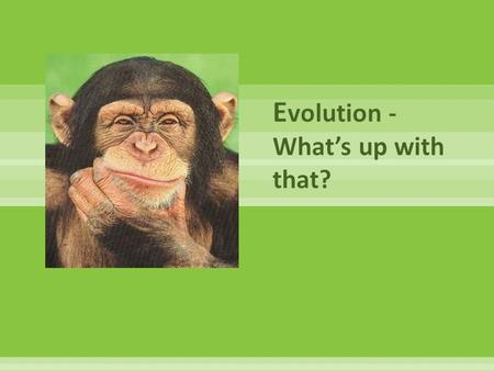 Evolution - What's up with that?