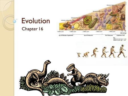 Evolution Chapter 16 Early Theory of Evolution Lamarck, a French biologist, proposed: ◦ That body structures could change according to the actions.