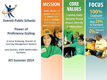 Power of Proficiency Scaling ATI Summer 2014