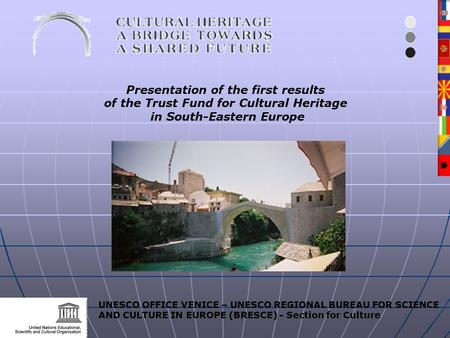 UNESCO OFFICE VENICE – UNESCO REGIONAL BUREAU FOR SCIENCE AND CULTURE IN EUROPE (BRESCE) - Section for Culture Presentation of the first results of the.