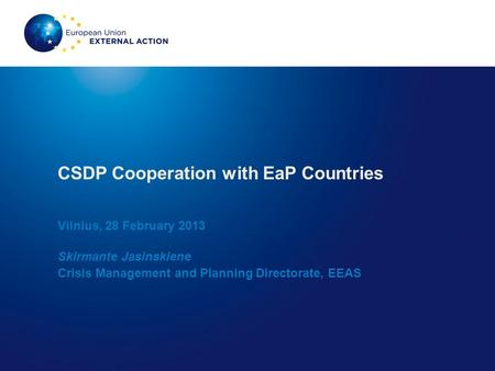 CSDP Cooperation with EaP Countries