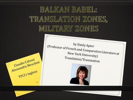 Comparative Literature and Critical Translation, M.St.