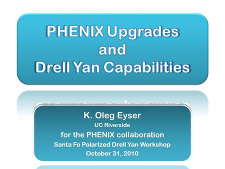 PHENIX Decadal Plan o Midterm upgrades until 2015 o Long term evolution after 2015 Dynamical origins of spin- dependent interactions New probes of longitudinal.