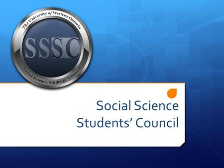 Social Science Students' Council. What is the Social Science Students' Council?  60 student representatives from within the Faculty of Social Science.