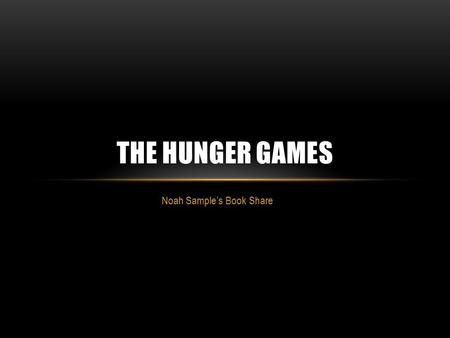Thesis statement for the hunger games