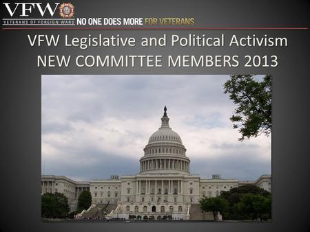 VFW Legislative and Political Activism NEW COMMITTEE MEMBERS 2013.