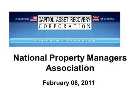 National Property Managers Association February 08, 2011.