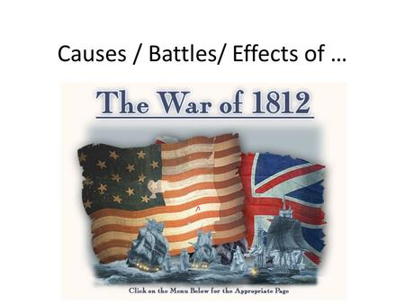 Causes / Battles/ Effects of …. 1 st Four Presidents Review Washington 1789-1797 Adams 1797-1801 Jefferson 1801-809 Madison 1809-1817 Development of Government.