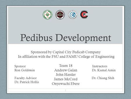 Pedibus Development Sponsored by Capital City Pedicab Company