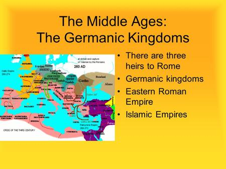 The Middle Ages: The Germanic Kingdoms