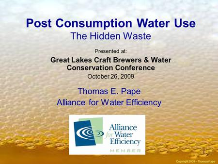 Post Consumption Water Use The Hidden Waste